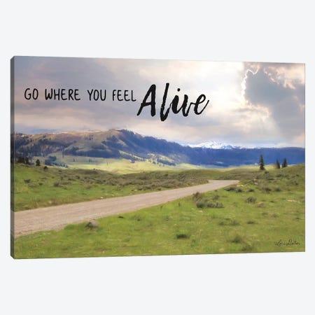 Go Where You Feel Alive Canvas Print #LOD150} by Lori Deiter Canvas Artwork