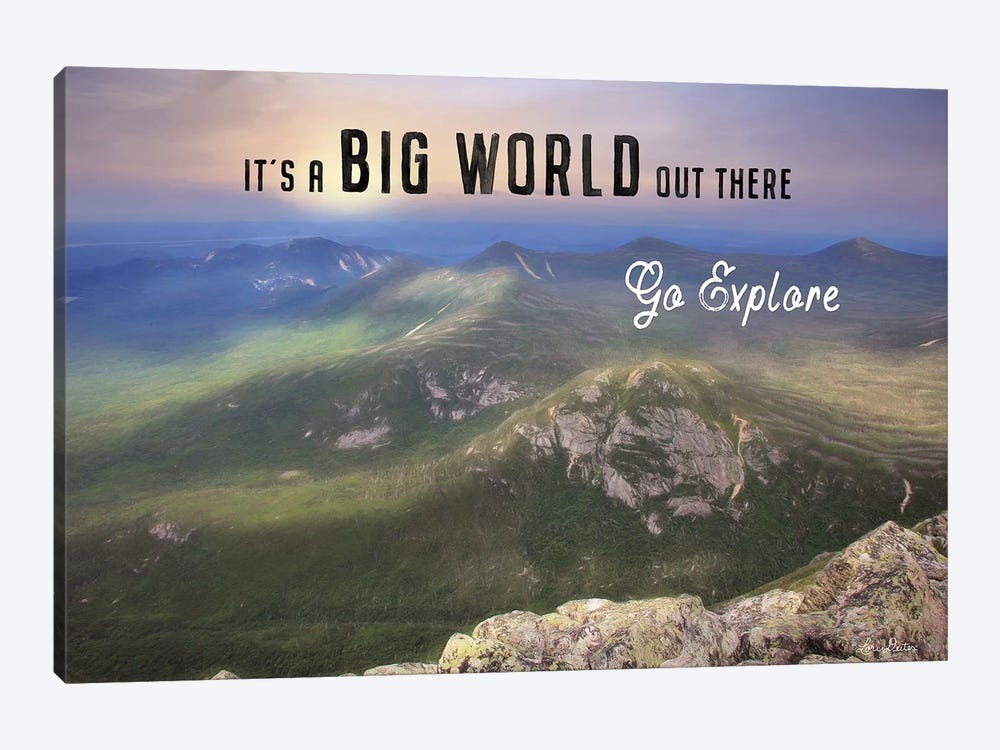It's a Big World Out There by Lori Deiter 1-piece Canvas Art