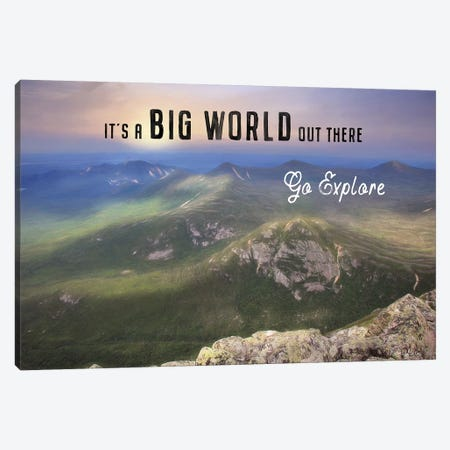 It's a Big World Out There Canvas Print #LOD152} by Lori Deiter Canvas Wall Art