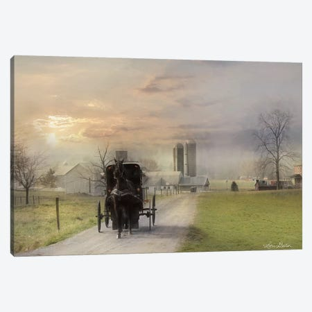 Morning Exercise Canvas Print #LOD156} by Lori Deiter Canvas Print