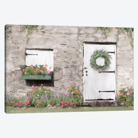Old Stone Cottage Canvas Print #LOD158} by Lori Deiter Canvas Artwork