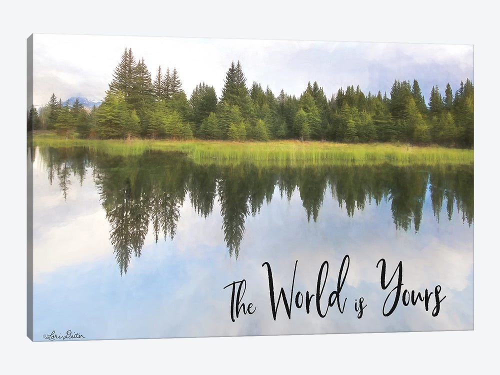 The World is Yours by Lori Deiter 1-piece Canvas Artwork