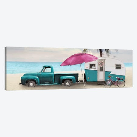 Beach Camping with Bike Canvas Print #LOD166} by Lori Deiter Canvas Art