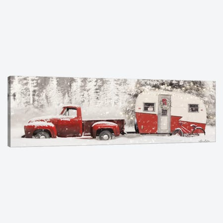 Christmas Camper with Bike Canvas Print #LOD169} by Lori Deiter Canvas Print