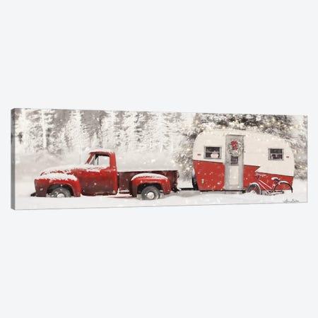 Christmas Camper with Bike Canvas Print #LOD169} by Lori Deiter Canvas Print