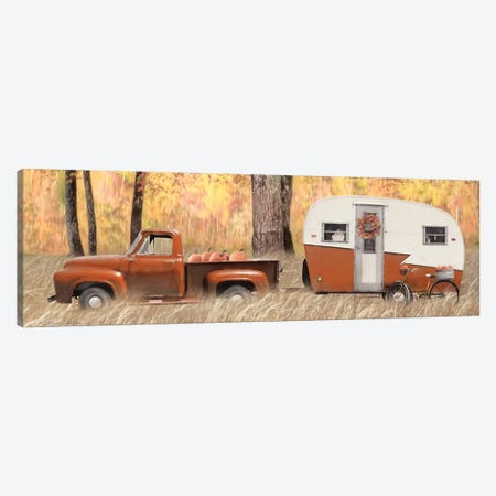 Fall Camping with bike 3-Piece Canvas #LOD176} by Lori Deiter Canvas Art Print