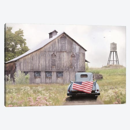 Flag on Tailgate Canvas Print #LOD177} by Lori Deiter Canvas Art Print