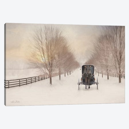 Snowy Amish Lane Canvas Print #LOD198} by Lori Deiter Canvas Art