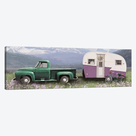 Spring Camping with Bike Canvas Print #LOD201} by Lori Deiter Canvas Wall Art