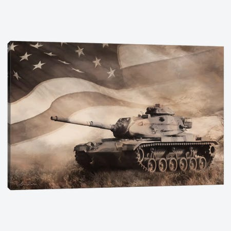 The Liberator Tank Canvas Print #LOD202} by Lori Deiter Canvas Artwork