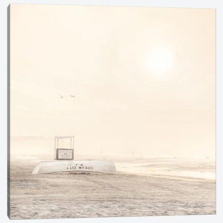 Bleached Beach 3-Piece Canvas #LOD211} by Lori Deiter Canvas Print
