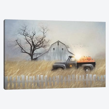 Fall Pumpkin Harvest Canvas Print #LOD217} by Lori Deiter Canvas Wall Art