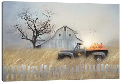 Fall Pumpkin Harvest Canvas Art Print