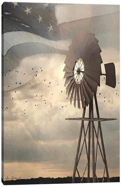 Land That I Love Windmill I Canvas Art Print