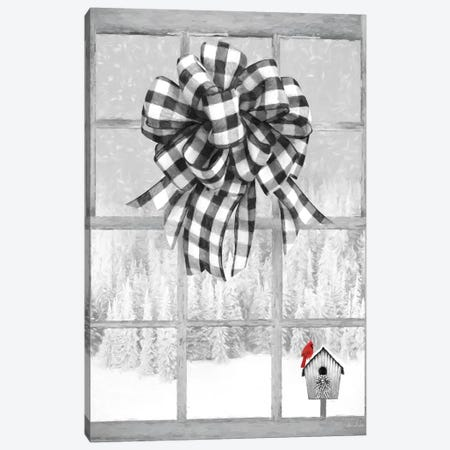 Christmas Birdhouse With Bow Canvas Print #LOD234} by Lori Deiter Canvas Art