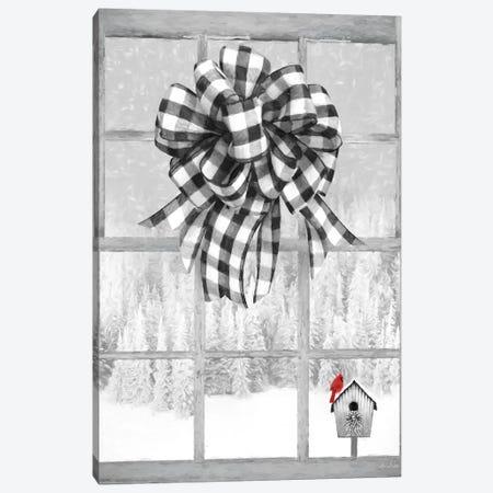 Christmas Birdhouse With Bow Canvas Print #LOD234} by Lori Deiter Canvas Art