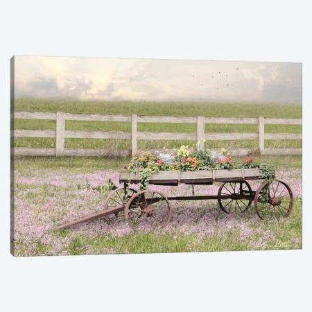 Country Flower Wagon Canvas Print #LOD239} by Lori Deiter Canvas Print