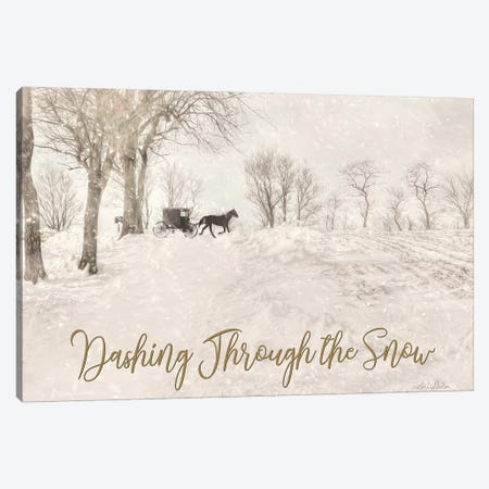 Dashing Through The Snow Canvas Print #LOD240} by Lori Deiter Canvas Wall Art