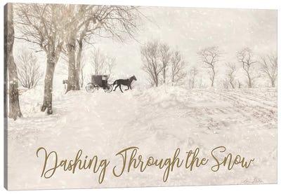 Dashing Through The Snow Canvas Art Print