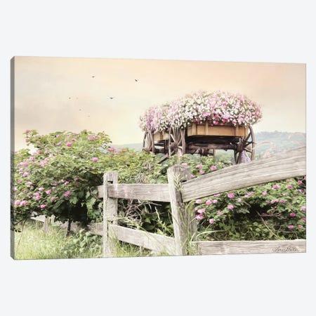 Flower Wagon Canvas Print #LOD245} by Lori Deiter Art Print