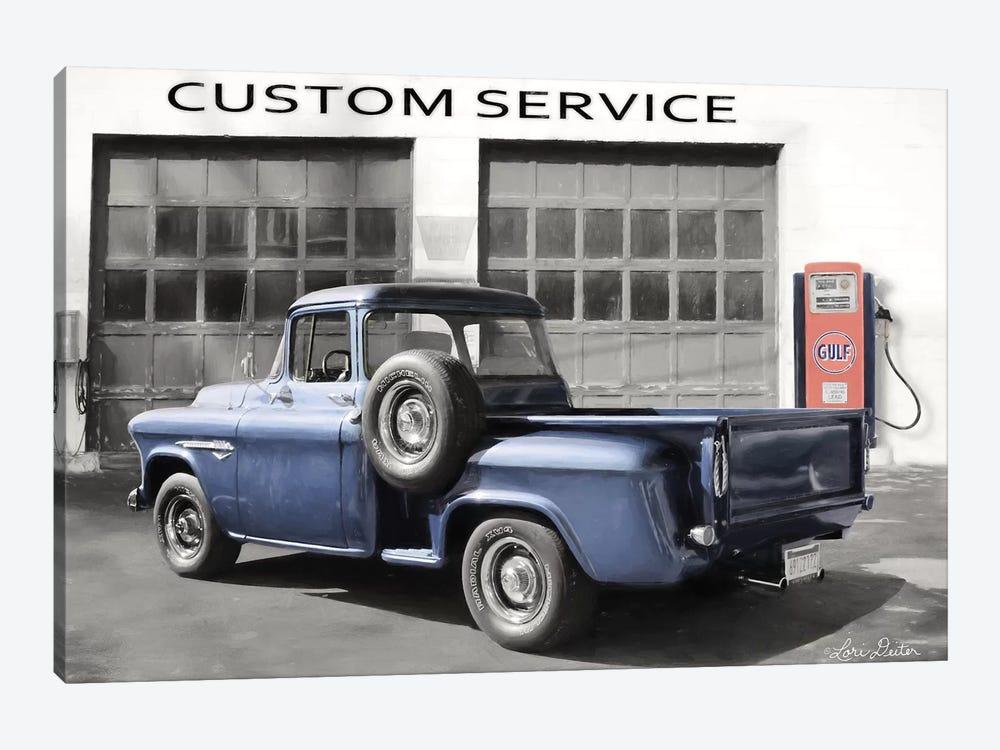 Gulf Service Station by Lori Deiter 1-piece Canvas Wall Art