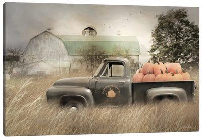 Happy Harvest Truck Canvas Art Print
