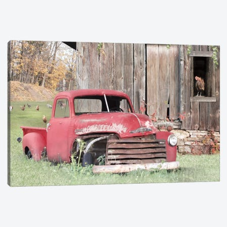 Red And Rusty I Canvas Print #LOD260} by Lori Deiter Canvas Artwork