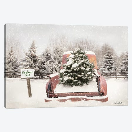 Rustic Christmas Trees Canvas Print #LOD263} by Lori Deiter Canvas Wall Art