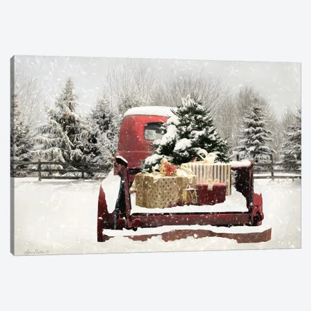 Snowy Presents Canvas Print #LOD264} by Lori Deiter Canvas Art Print