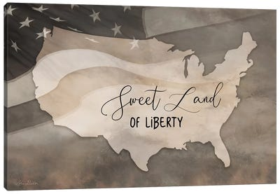Sweet Land Of Liberty Canvas Art Print