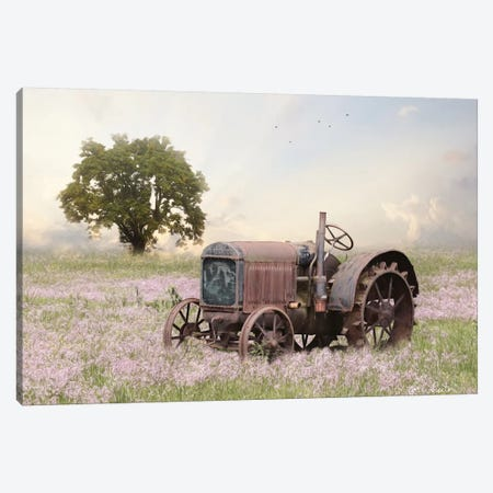 Tractor At Sunset Canvas Print #LOD269} by Lori Deiter Canvas Wall Art