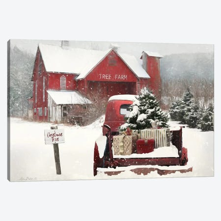 Tree Farm Christmas 3-Piece Canvas #LOD272} by Lori Deiter Art Print