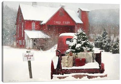 Tree Farm Christmas Canvas Art Print