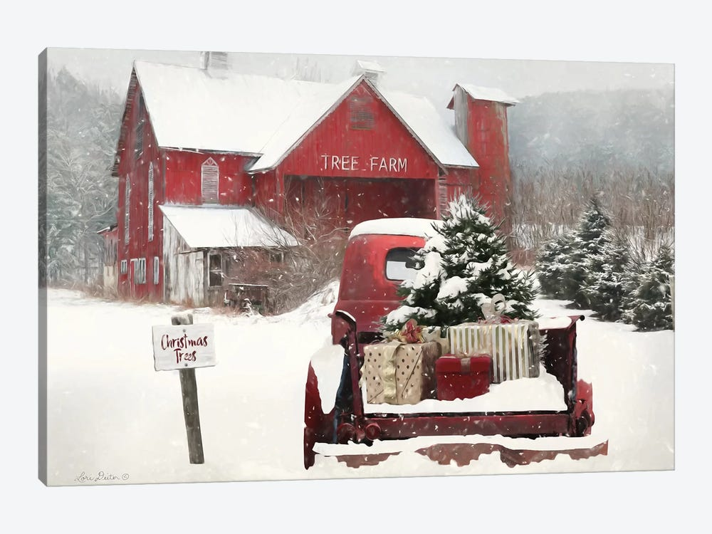 Tree Farm Christmas by Lori Deiter 1-piece Canvas Wall Art