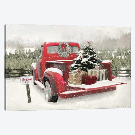 Truck Full Of Presents Canvas Print #LOD273} by Lori Deiter Art Print