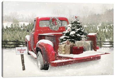 Truck Full Of Presents Canvas Art Print