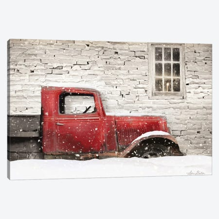Winter Parking Spot Canvas Print #LOD275} by Lori Deiter Canvas Wall Art
