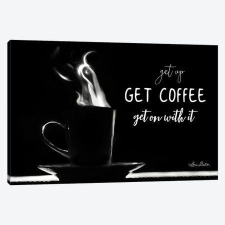 Get Coffee Canvas Print #LOD27} by Lori Deiter Art Print