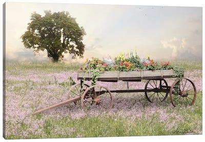 Flower Wagon at Sunset   Canvas Art Print