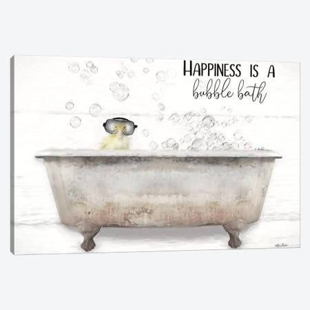 Happiness Bubble Bath Canvas Print #LOD283} by Lori Deiter Canvas Art