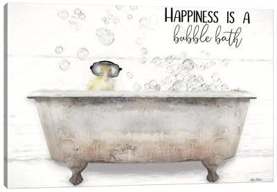 Happiness Bubble Bath Canvas Art Print