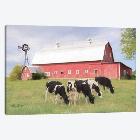 Henderson Cows    Canvas Print #LOD284} by Lori Deiter Canvas Art Print