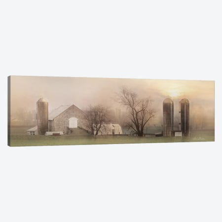 Old Stone Barn Canvas Print #LOD289} by Lori Deiter Canvas Wall Art