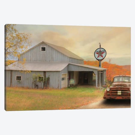 The Old Station Canvas Print #LOD294} by Lori Deiter Canvas Wall Art