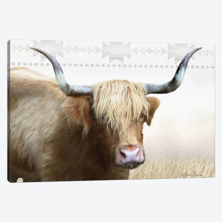 Get Your Horns Up Canvas Print #LOD29} by Lori Deiter Canvas Wall Art