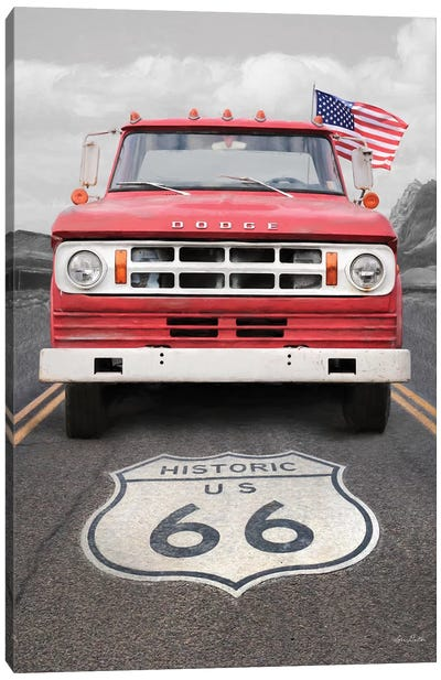 Dodge On Route 66 Canvas Art Print