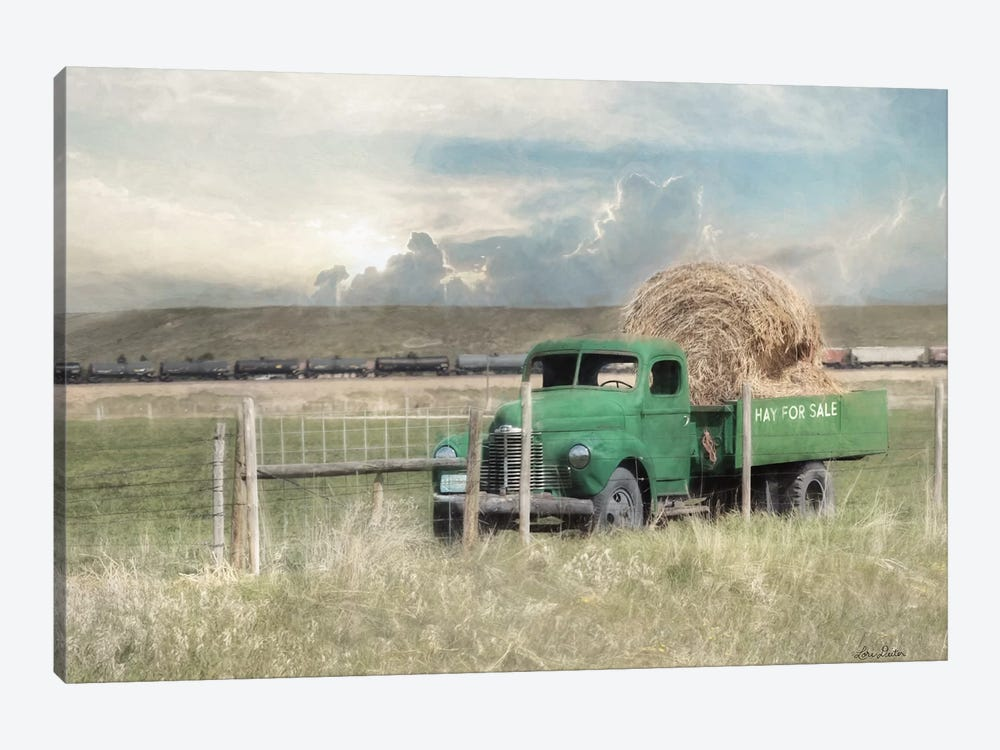 Hay For Sale by Lori Deiter 1-piece Canvas Artwork