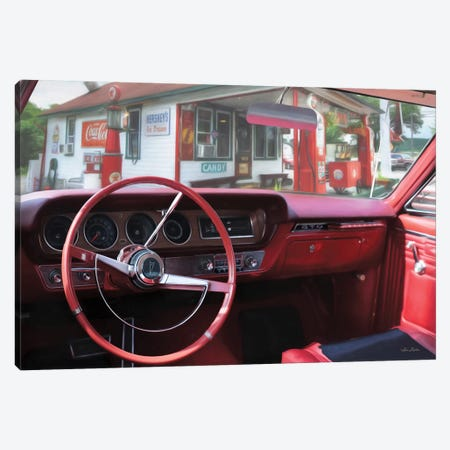 Pontiac Gto Pitstop Canvas Print #LOD310} by Lori Deiter Canvas Wall Art