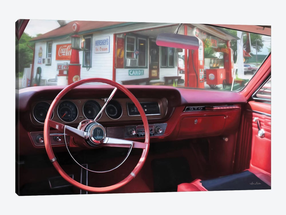 Pontiac Gto Pitstop by Lori Deiter 1-piece Canvas Art Print