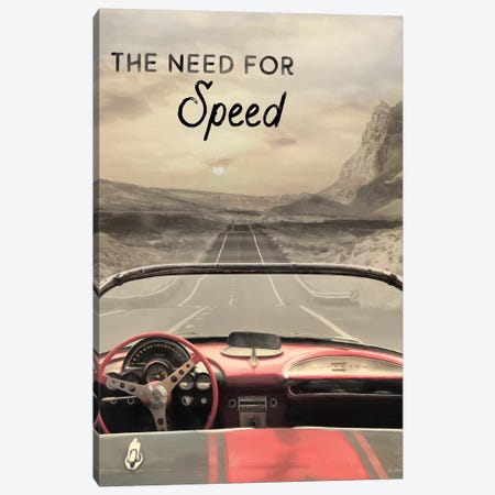 The Need For Speed Canvas Print #LOD313} by Lori Deiter Canvas Artwork